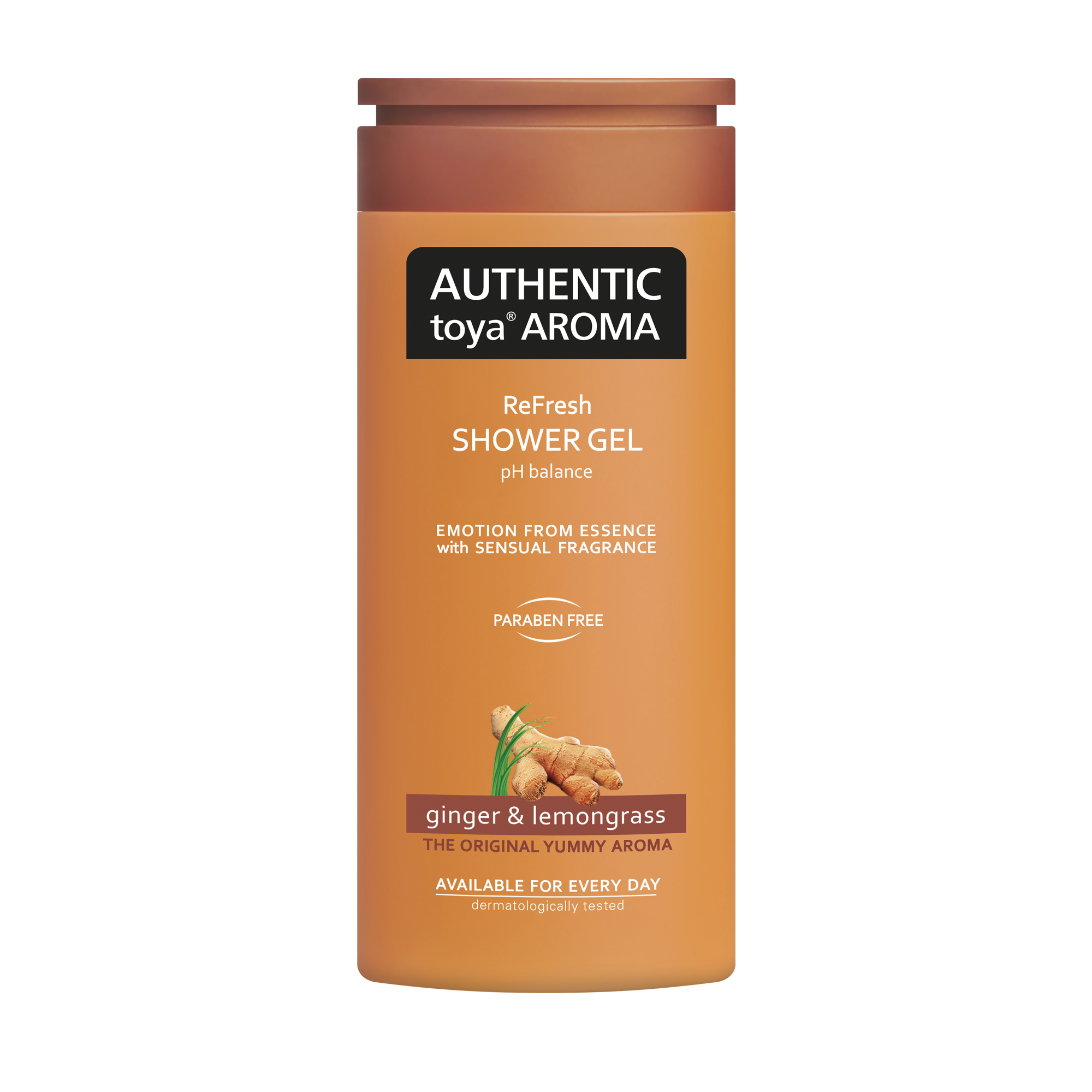 AUTHENTIC toya AROMA ginger & lemongrass shower gel