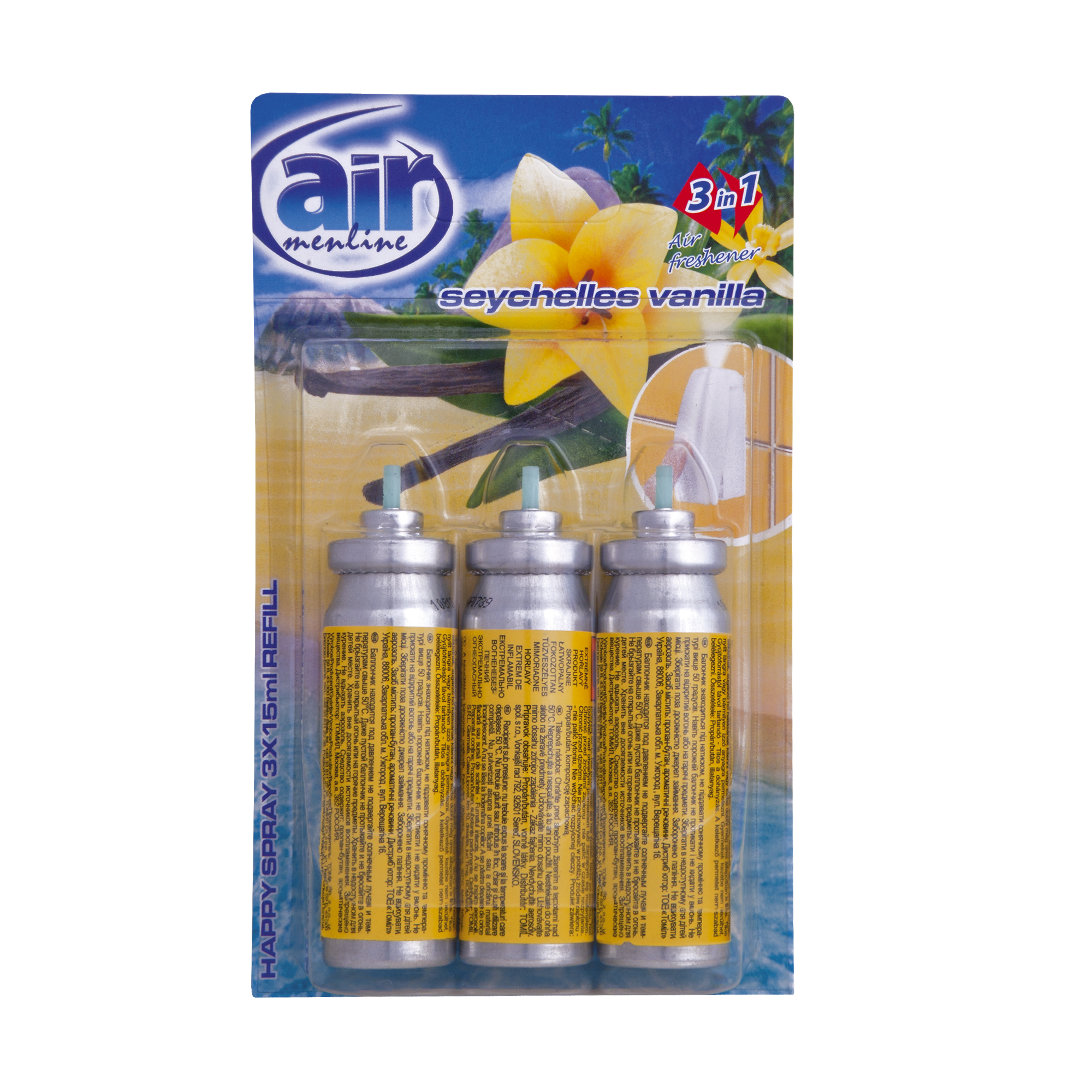 Air menline pulverizatorul Happy spray Seychelles Vanilla - refill