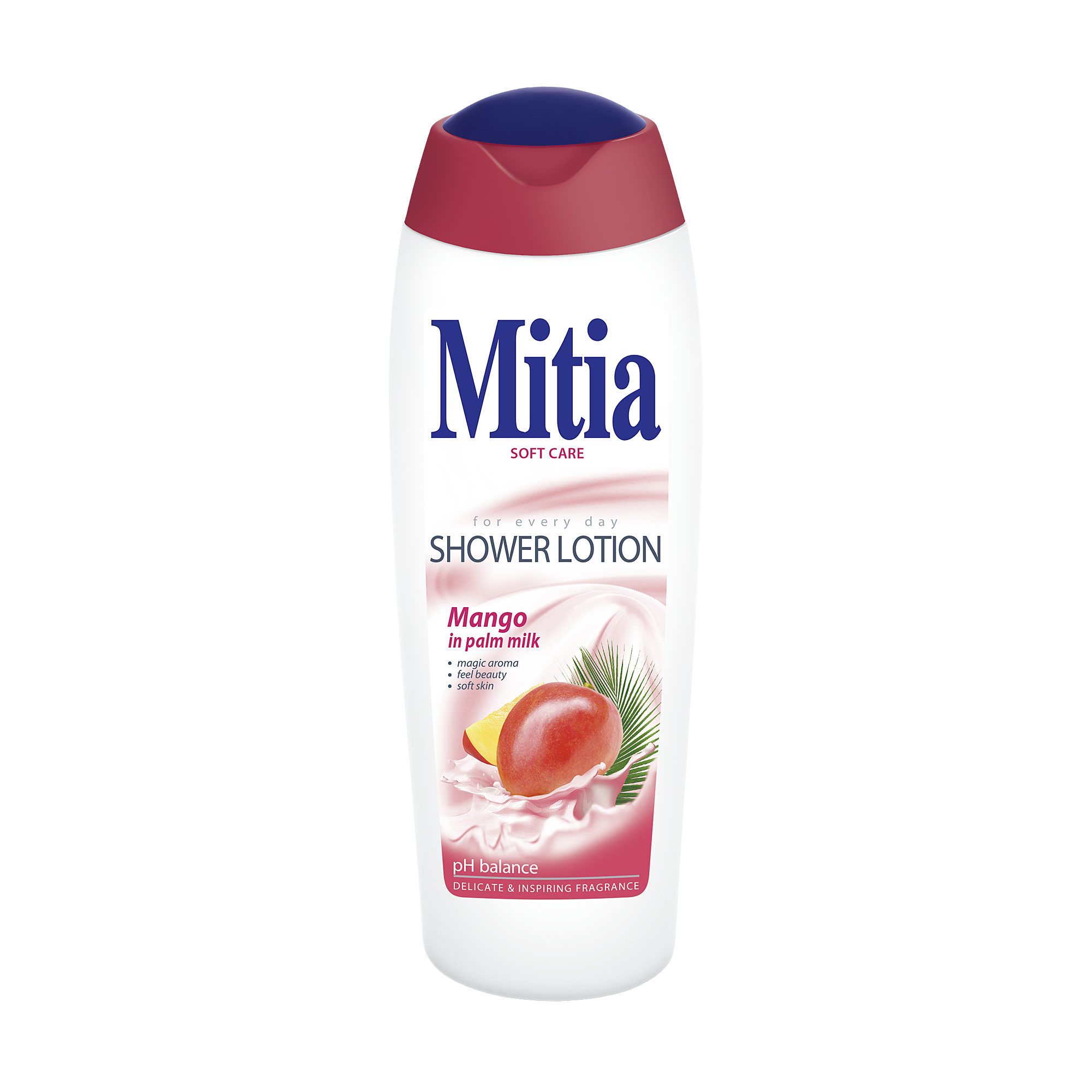 Mitia Mango in palm milk shower milk