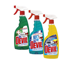 Dr. Devil cleaning agent with spray notule