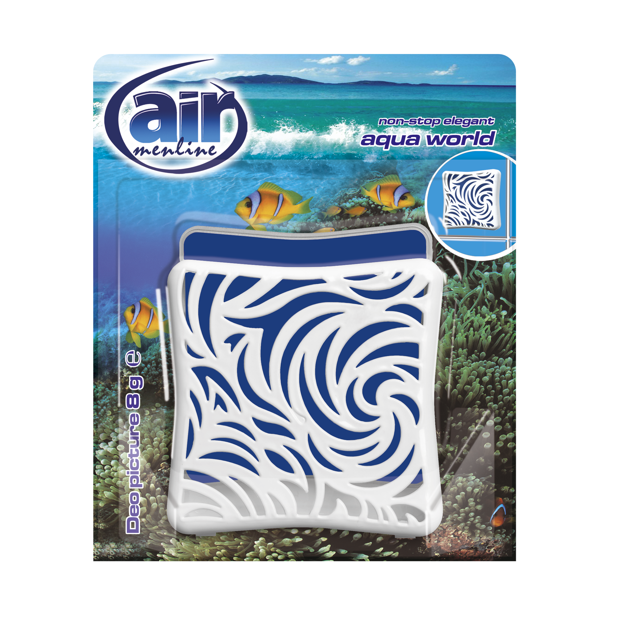 AIR menline deo picture air freshener Aqua World
