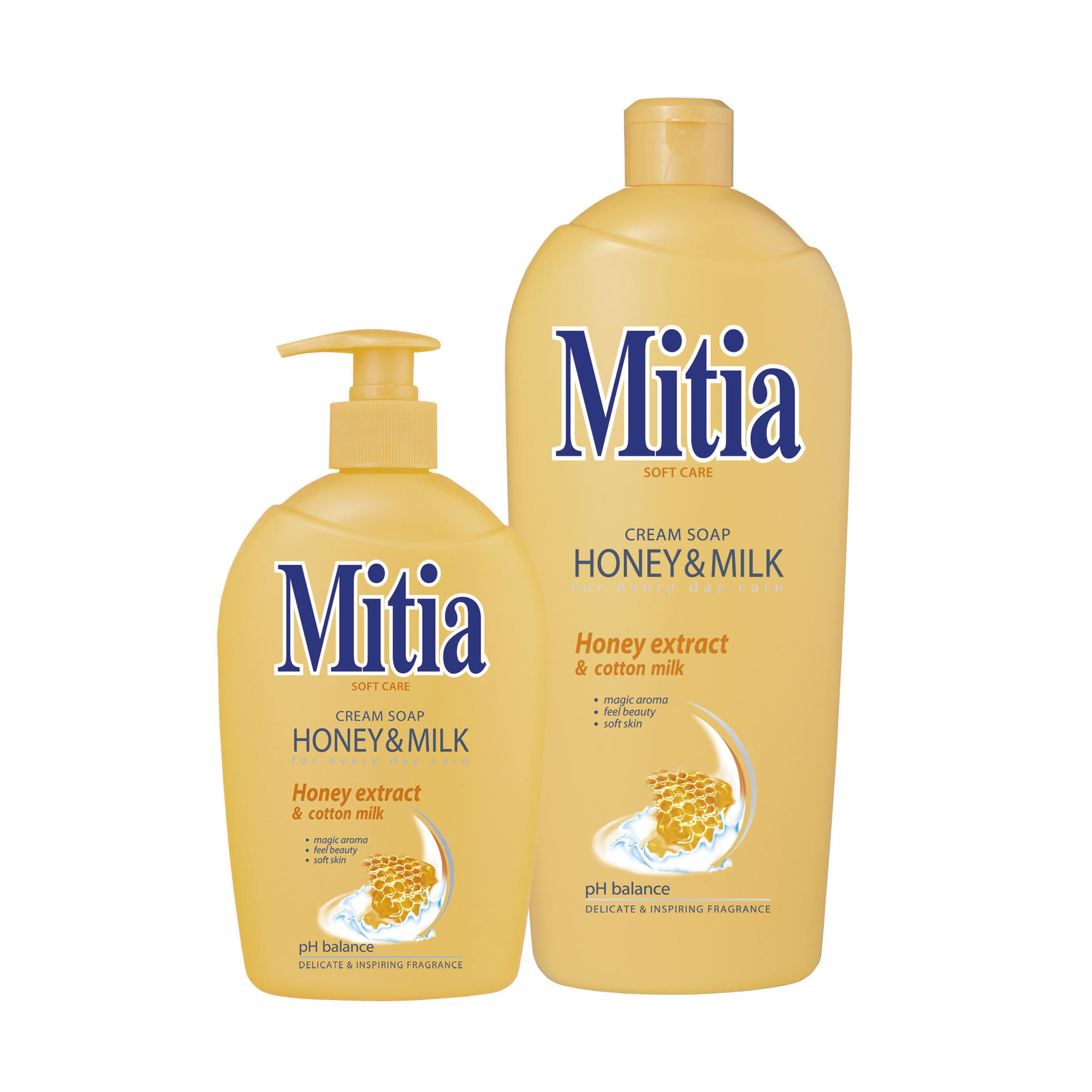 Mitia Cremeseife Honey & Milk