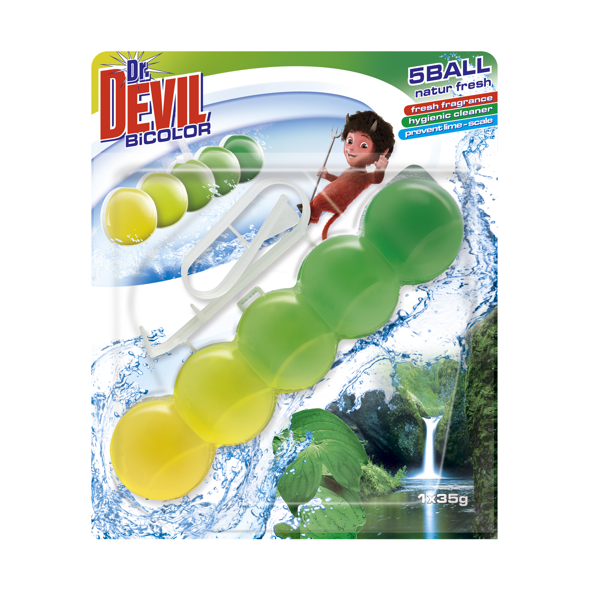 Dr. Devil WC BiCOLOR 5BALL Natur Fresh