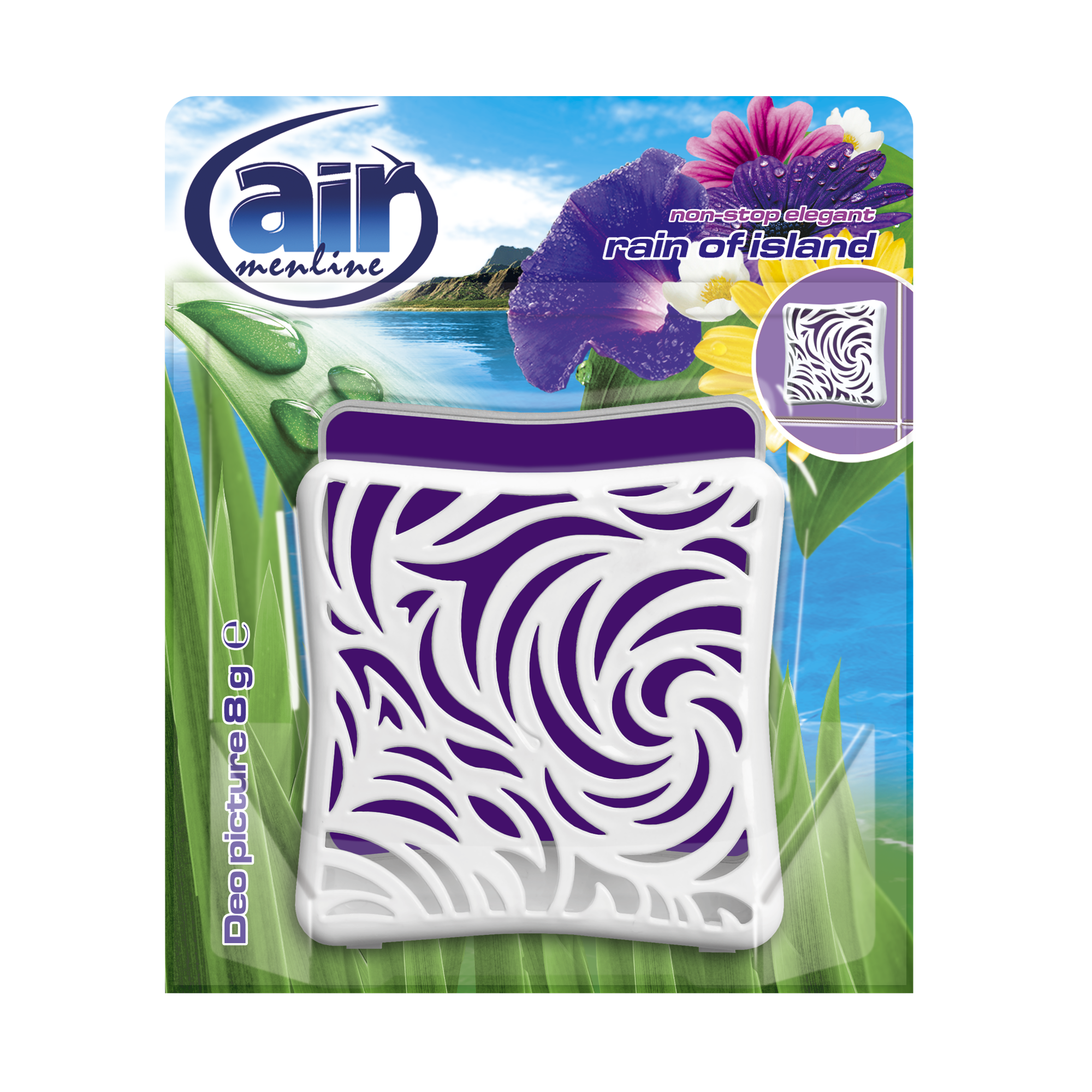 AIR menline deo picture air freshener Rain of Island