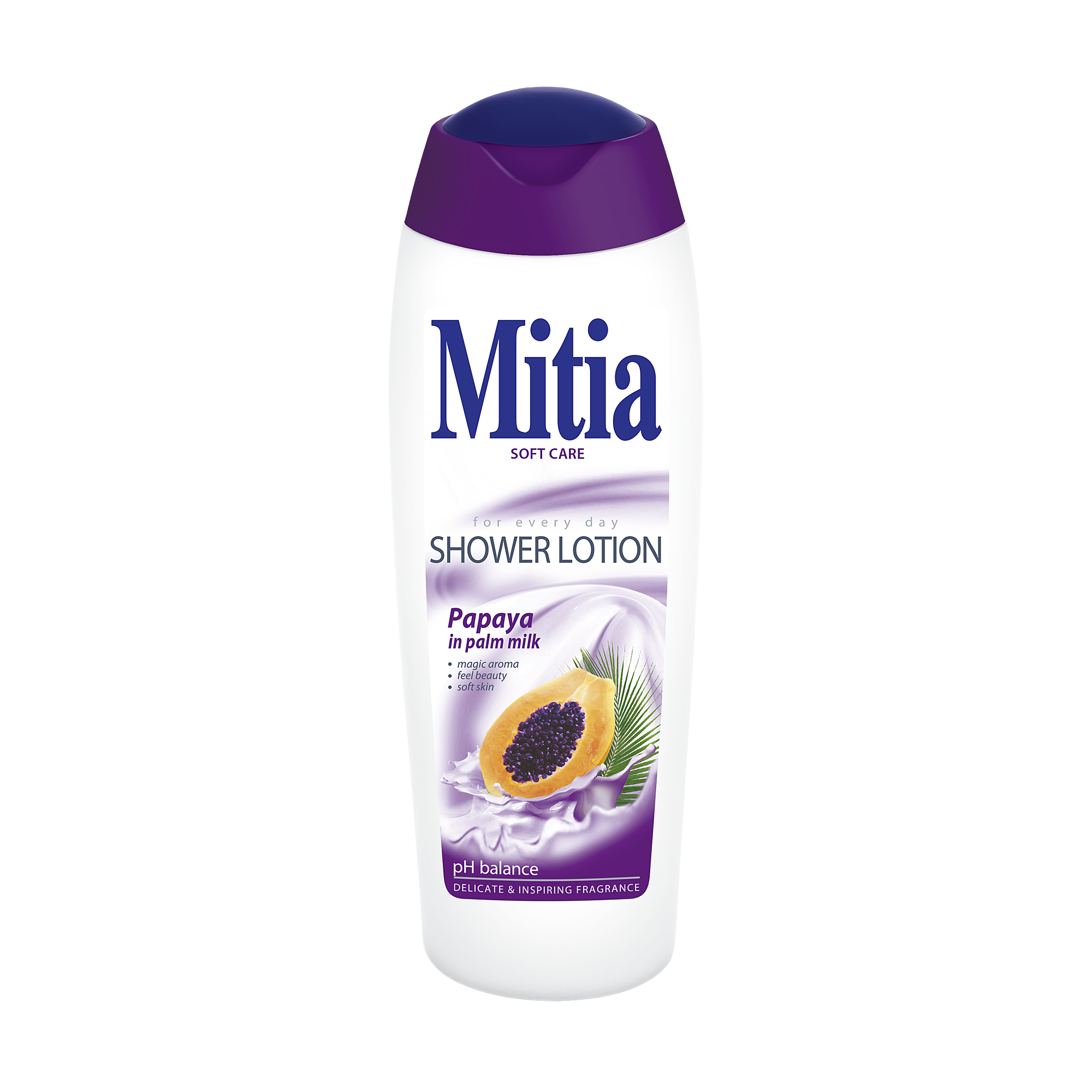 Mitia Papaya in palm milk shower milk