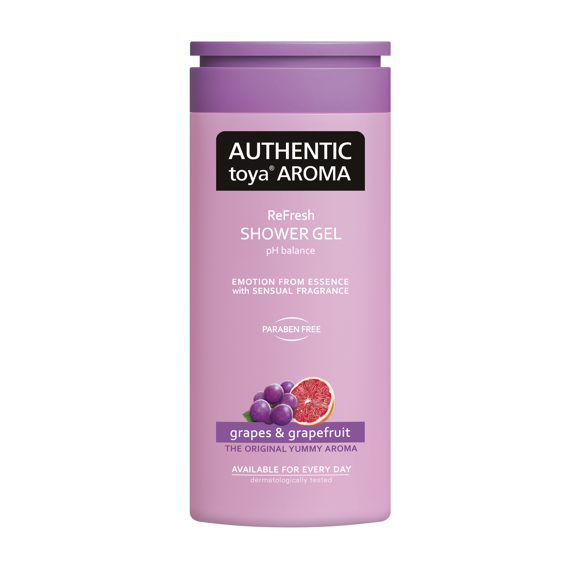 AUTHENTIC toya AROMA grapes & grapefruit shower gel