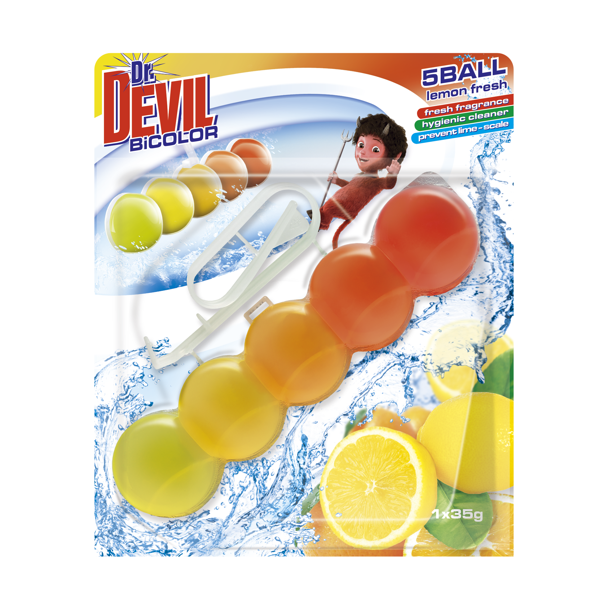 Dr. Devil WC BiCOLOR 5BALL Lemon Fresh