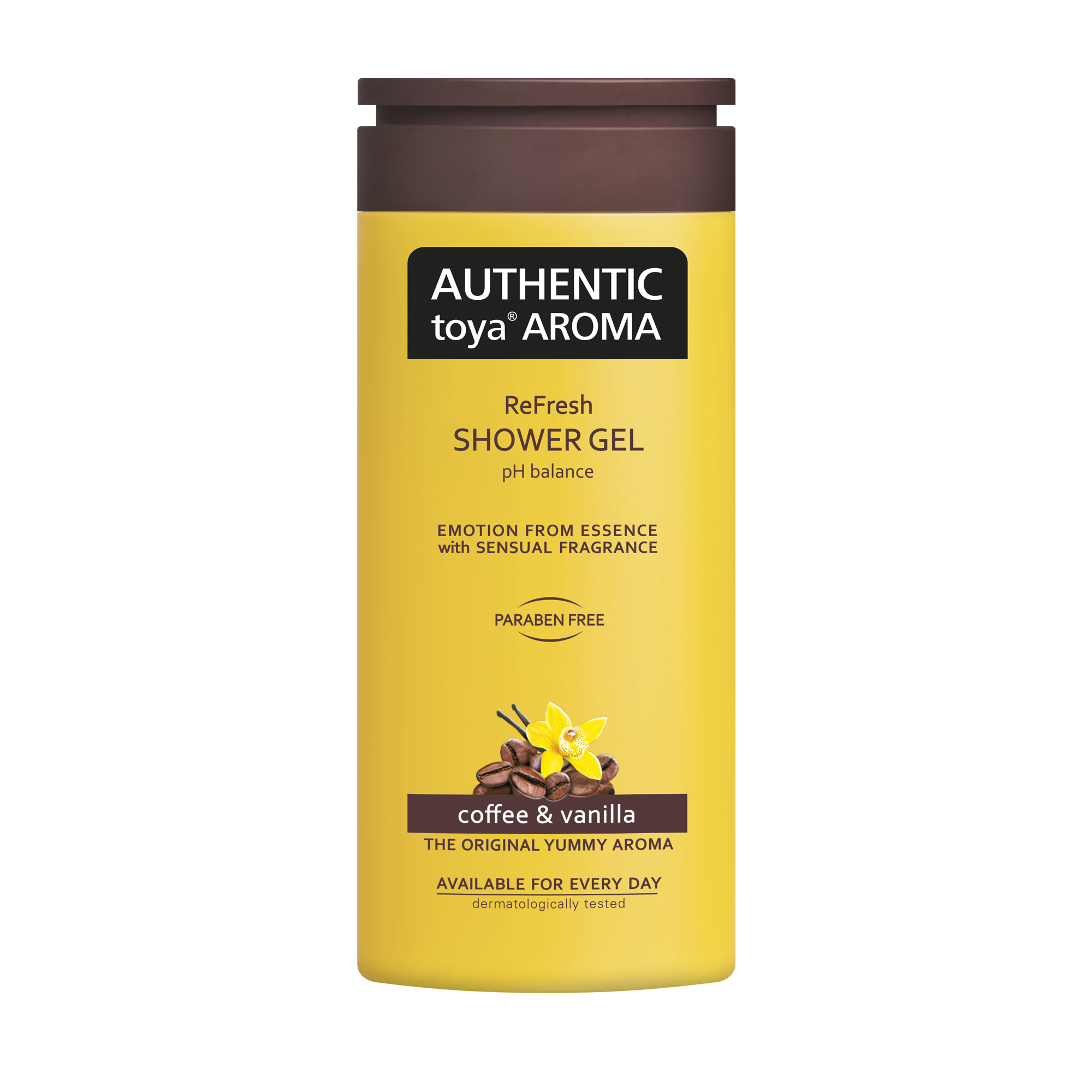 AUTHENTIC toya AROMA coffee & vanilla shower gel