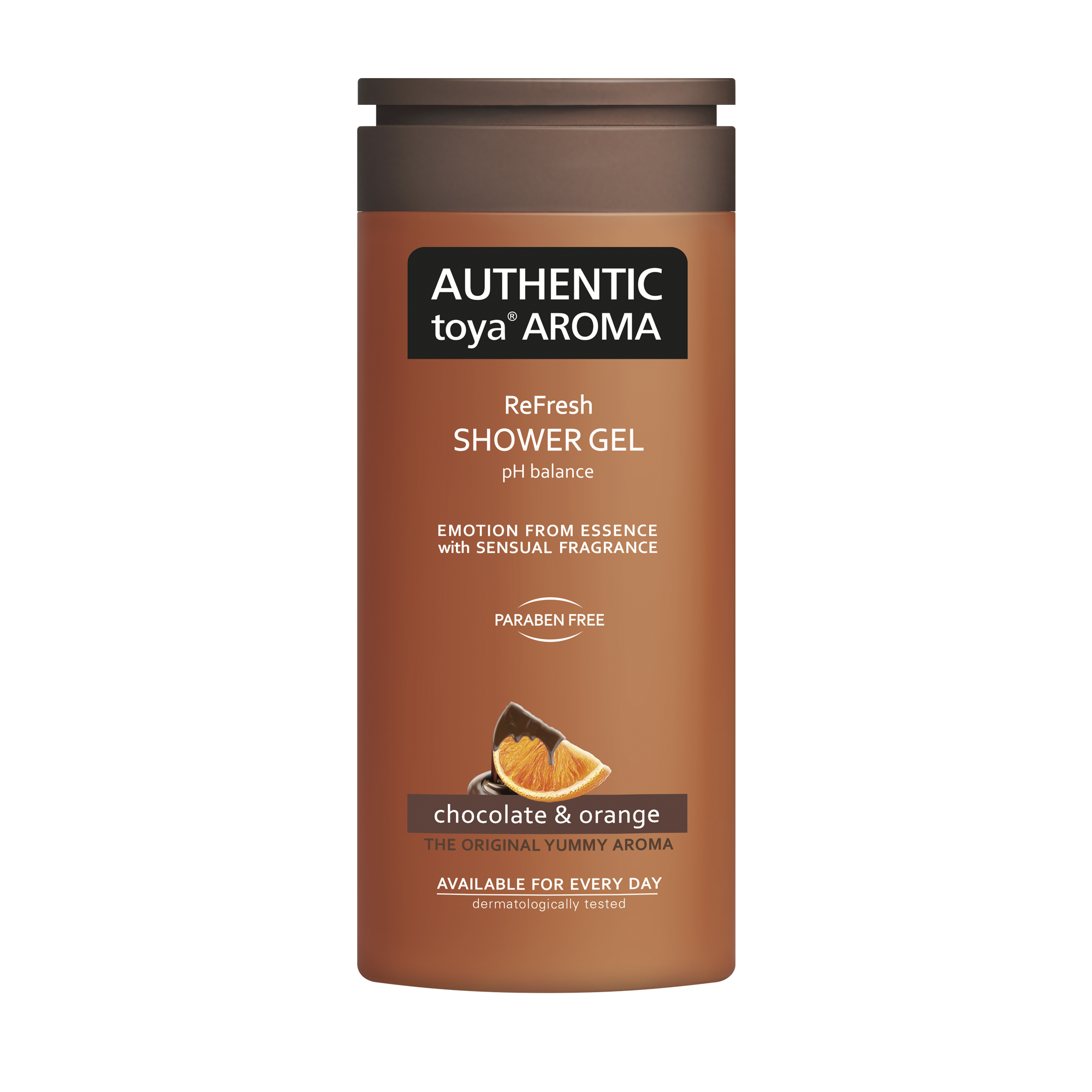 AUTHENTIC toya AROMA chocolate & orange shower gel