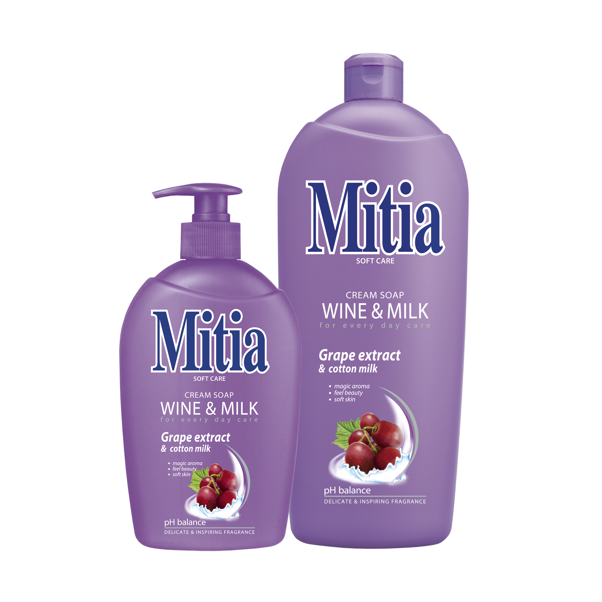 Mitia Wine & Milk liquid soap