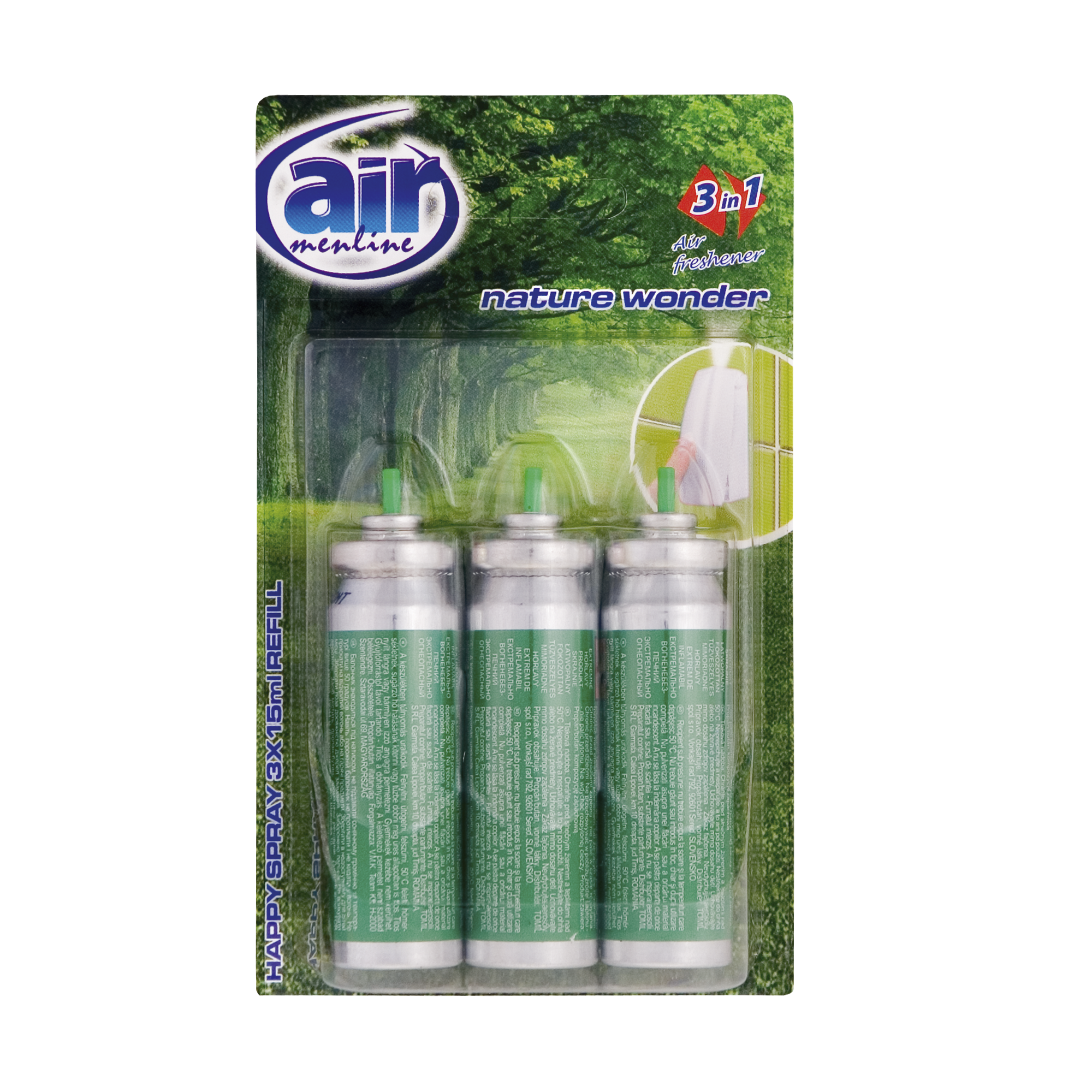 Air menilne pulverizatorul Happy spray Nature World - refill