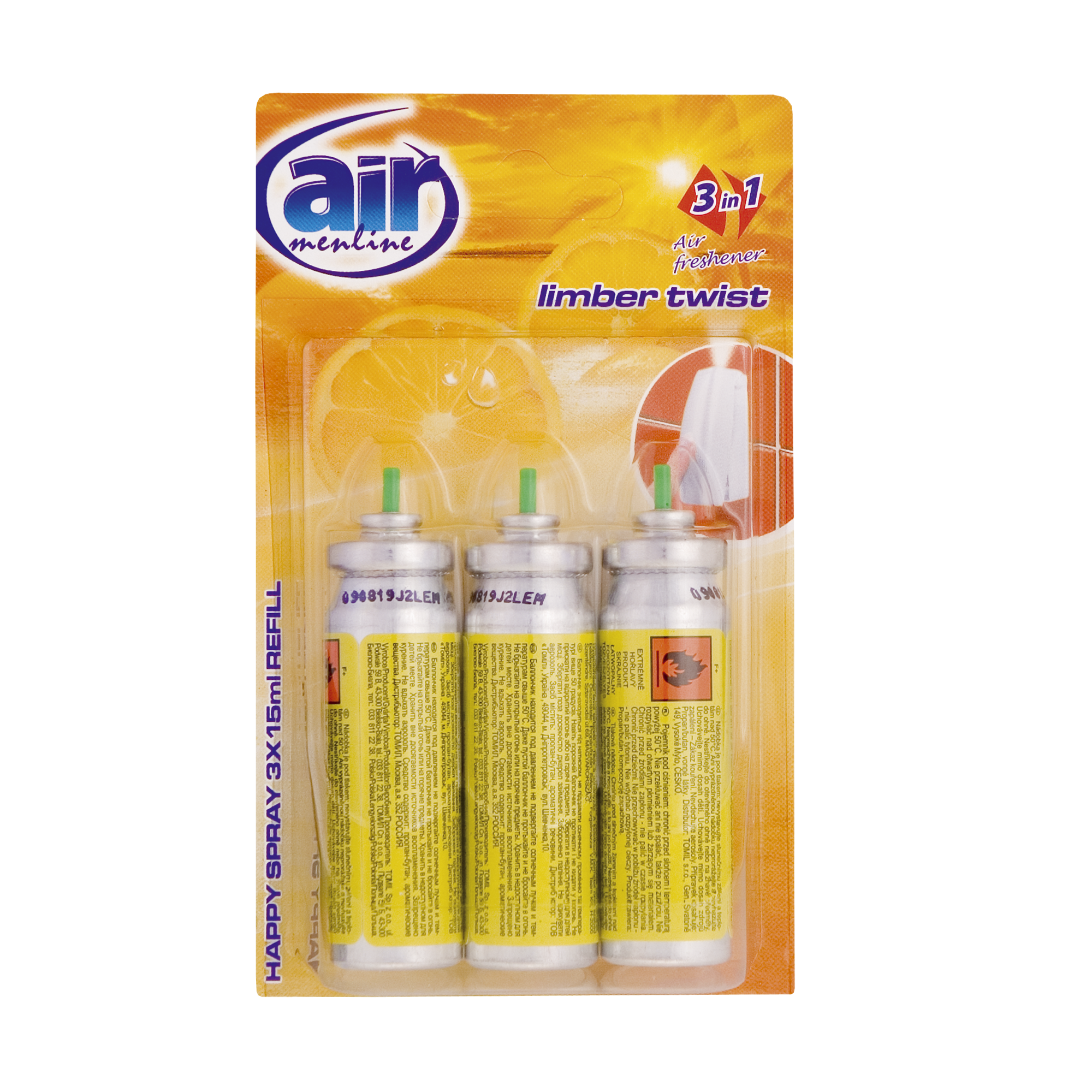 Air menline pulverizatorul Happy spray Limber Twist - refill