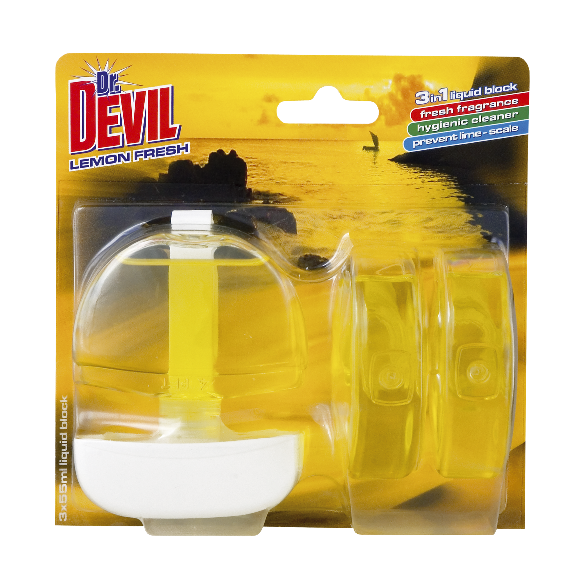 Flussiger Wc Spuler 3 In 1 Lemon Fresh