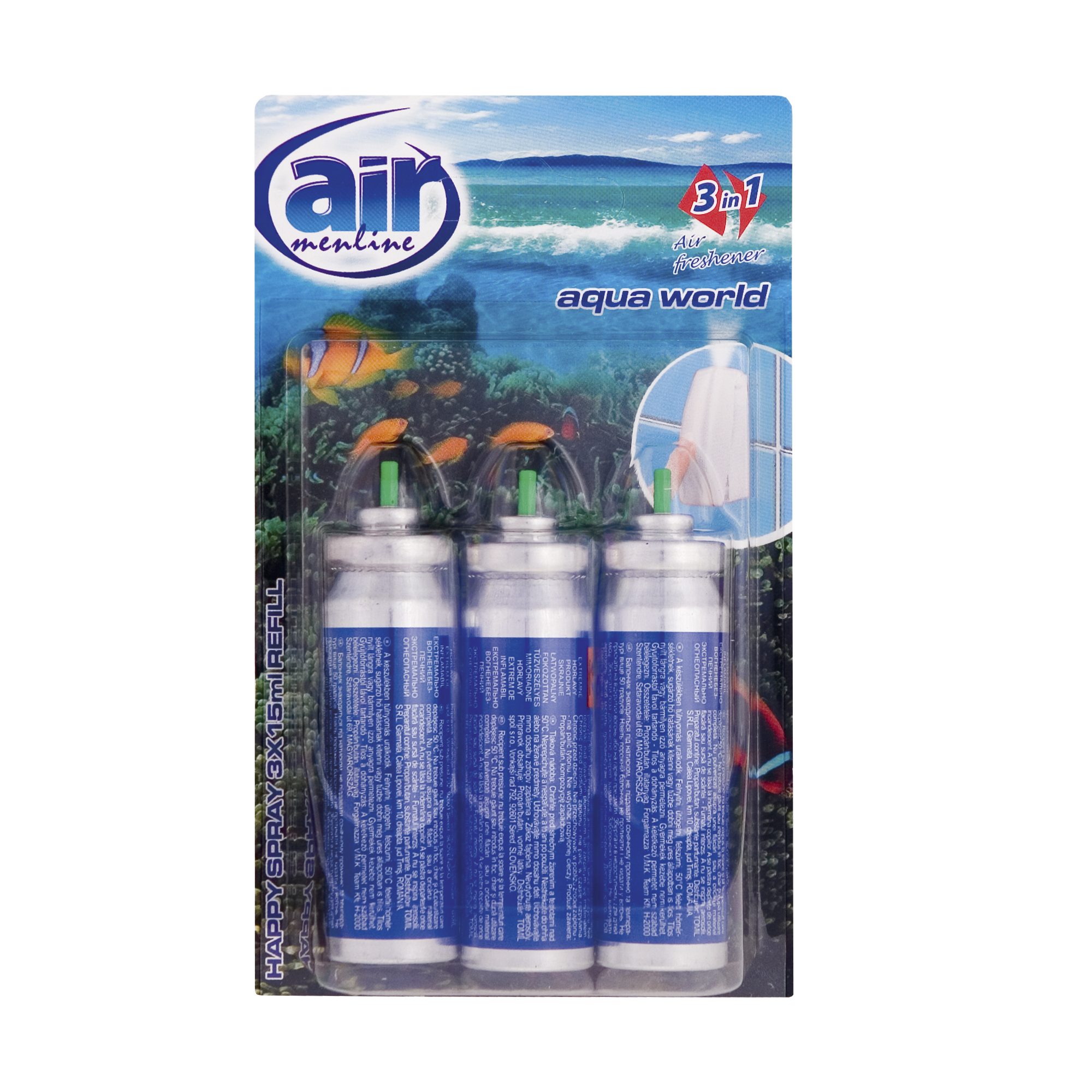 Air menline pulverizatorul Happy spray Aqua World - refill