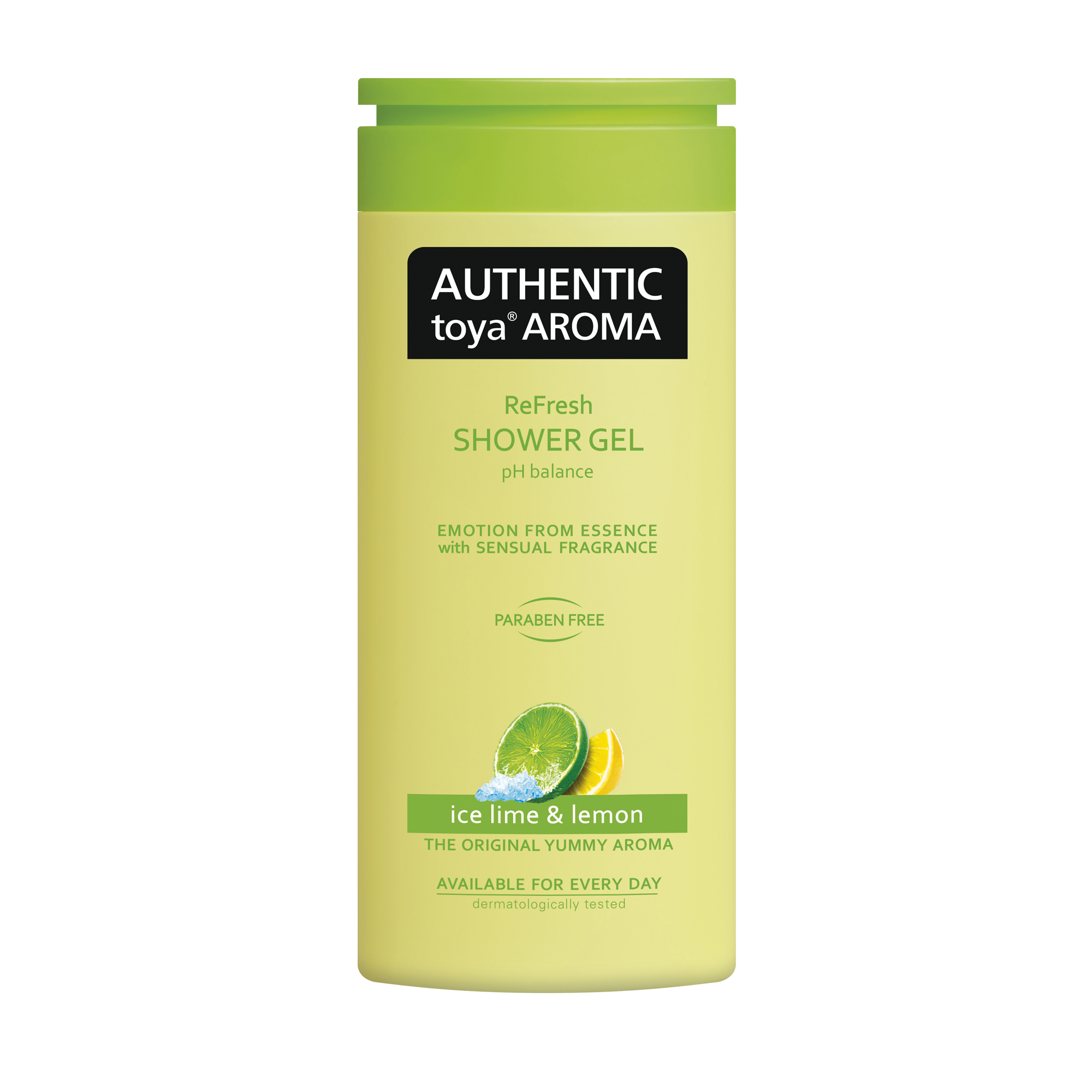 AUTHENTIC toya AROMA ice lime & lemon shower gel