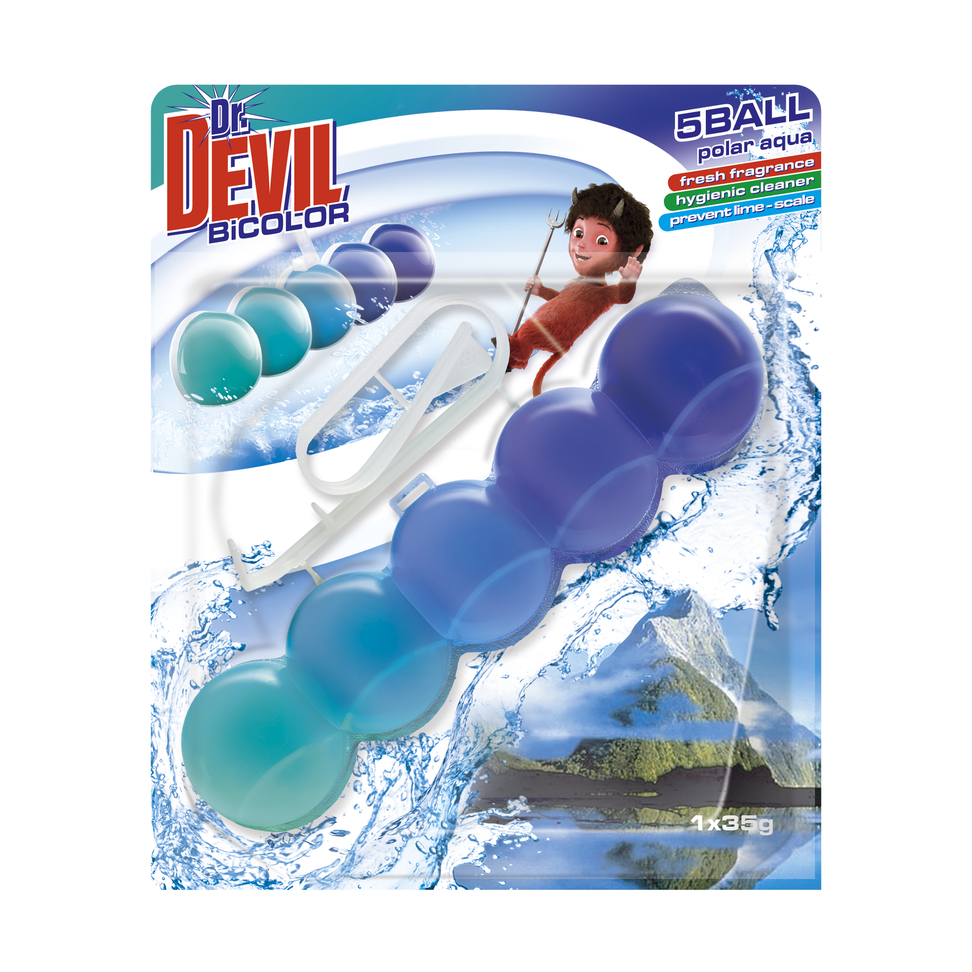 Dr. Devil WC BiCOLOR 5BALL Polar Aqua