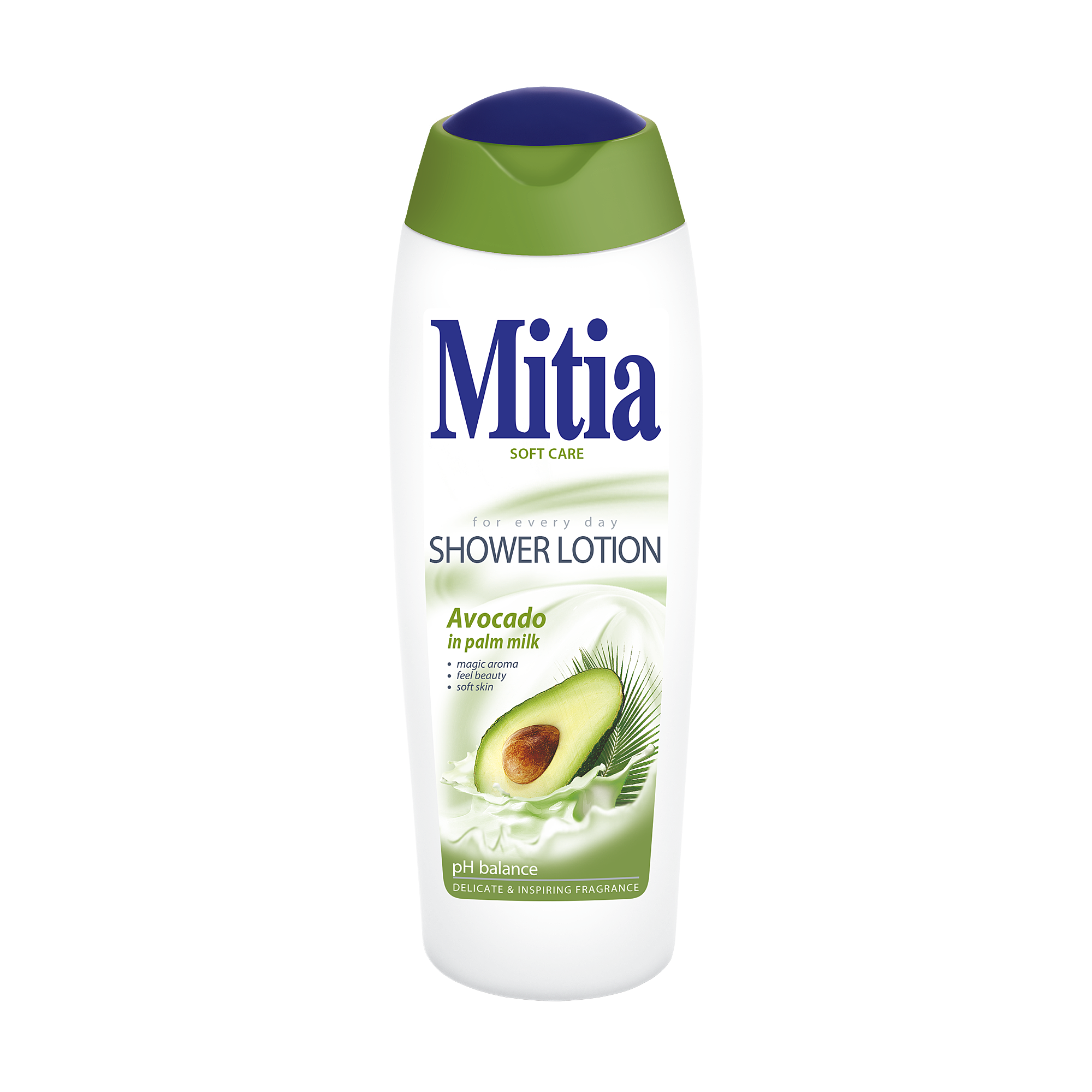 Mitia Avokado in palm milk shower milk