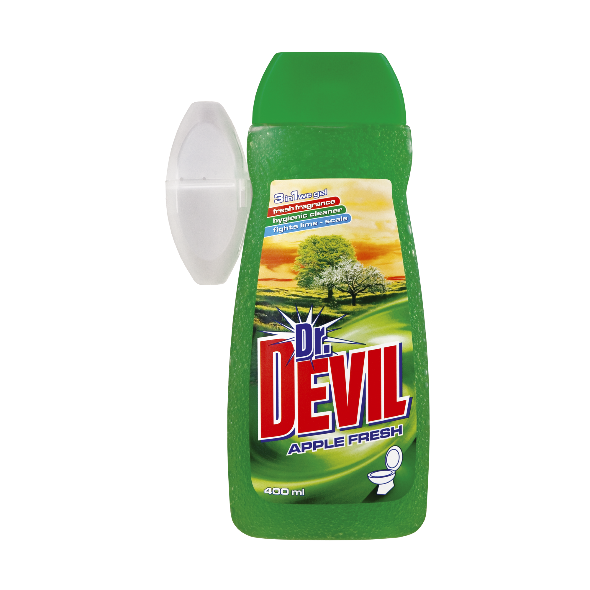 Dr. Devil tekutý WC gel Apple Fresh 3v1