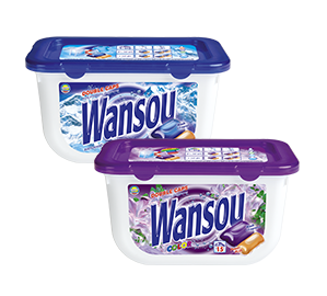 Wansou concentrated twin-chamber detergent capsules